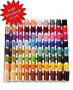 80 Cones  of Polyester Embroidery Threads for Janome, Brothe