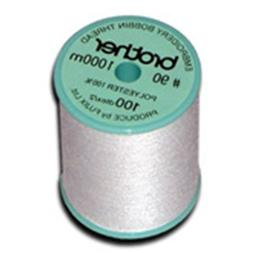 Brother 90wt White Polyester Bobbin Thread, 1100yd