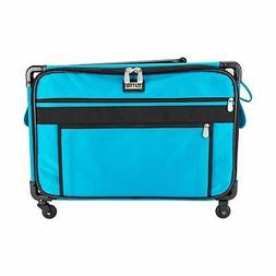 9224tma turquoise  machine on wheels case, 25 by 18.5 by 13,