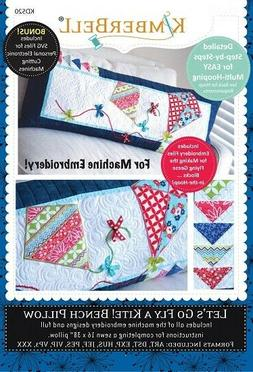 Lot - 4 Bench Pillow Embroidery CD By Kimberbell Designs KD5