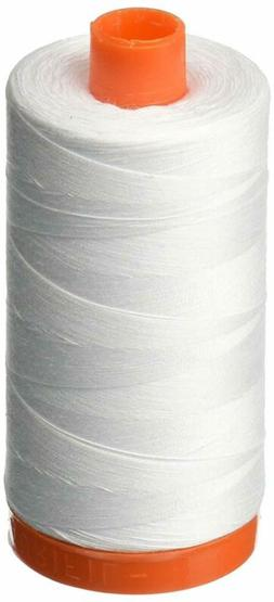 Aurifil A1050-2024 Mako Cotton Thread Solid 50Wt 1422Yds Whi