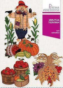 Autumn Harvest Anita Goodesign Embroidery Machine Design CD