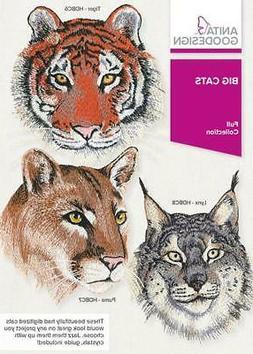 Anita Goodesign Big Cats Embroidery Machine Design CD NEW 56