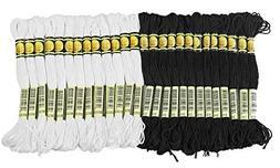 ThreadNanny Black and White Hand Embroidery Cross Stitch Thr