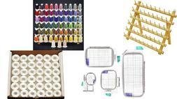 Brother Embroidery Premium kit-63 Color thread,Hoop set,144