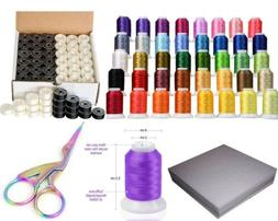 Brother Embroidery Starter Kit - 40 Color/36 bobbins/100 Bac