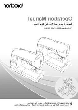 Brother SE1900 Sewing Embroidery Machine Owners Instruction