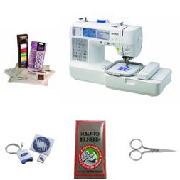 Brother SE400 Embroidery Bundle with Embroidery Starter Kit,