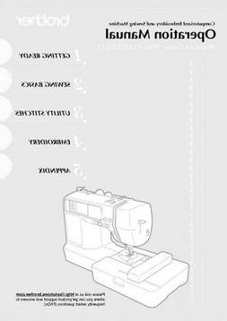 Brother SE425 Sewing Embroidery Machine Owners Instruction M