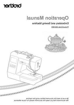 Brother SE625 Sewing Embroidery Machine Owners Instruction M