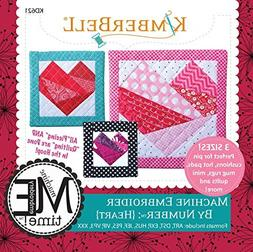 Kimberbell By Number : Heart Machine Embroidery Design CD KD