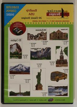 Amazing Designs CD for Embroidery Machine - Roadtrip USA - 2