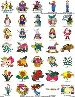 Collection of OVER 700 COUNTRY CHARM Embroidery Machine PATT