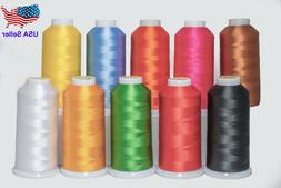 Cones Polyester Machine Embroidery Design Thread 10 Differen