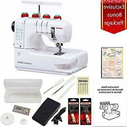 Janome Cover Pro 1000CPX Cover Stitch Machine with 3-Piece A