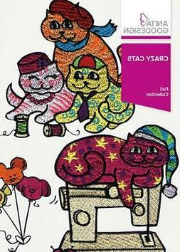 Crazy Cats Anita Goodesign Embroidery Machine Design CD NEW