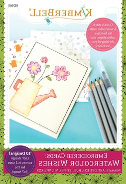 EMBROIDERED CARDS: WATERCOLOR WISHES MACHINE EMBROIDERY CD,