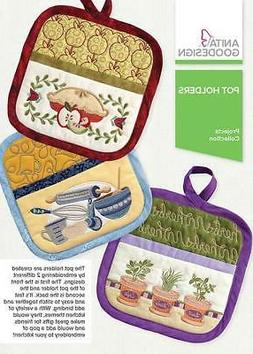 Anita Goodesign Embroidery Designs - Pot Holders