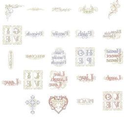 OESD Embroidery Machine Designs CD LIVE LOVE LAUGH