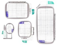 Embroidery Machine Hoop SET w/ Placement Grids for Brother P