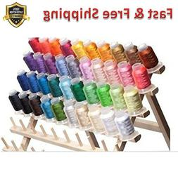 Embroidery Machine Thread 40 Spools Polyester High Strength