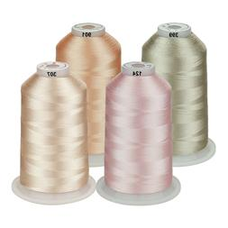 Simthread Embroidery Machine Thread Huge Spools Kits - 4 Col