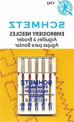 Schmetz Embroidery Sewing Machine Needles System 130/705 Siz