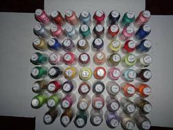 Embroidex Embroidery Thread, 63 rolls, 100% Polyester, 500m