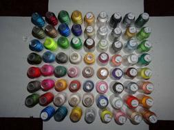 Embroidex Embroidery Thread, 71 rolls, 100% Polyester, 500 m