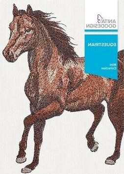equestrian embroidery machine design cd new