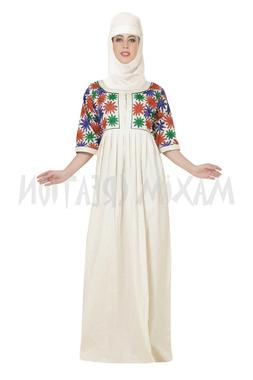 ETHNIC HOME EVENING GOWN MACHINE EMBROIDERY WORK COTTON DRES