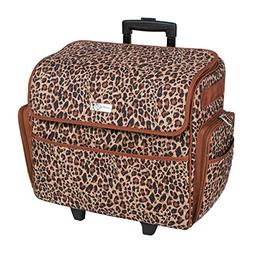 Everything Mary Deluxe Quilted Cheetah Print Rolling Sewing