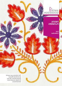 Fiesta Flowers Anita Goodesign Embroidery Design Machine CD