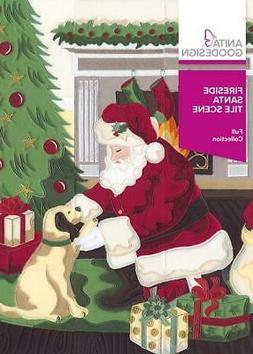Fireside Santa Tile Scene Anita Goodesign Embroidery Design