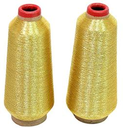 ThreadNanny Gold Metallic Machine Embroidery Threads - 10000