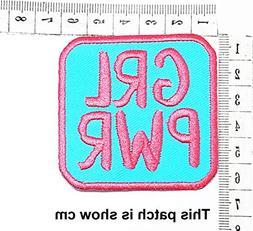GRL PWR Joke Funny Logo Fantasy Cartoon Chidren Kids Embroid