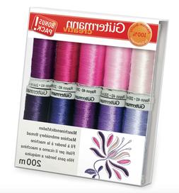Gutermann Sulky Rayon 40 Machine Embroidery SUNRISE Thread Set 10 Reels