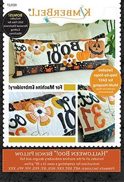 KimberBell - Halloween Boo! Bench Pillow Machine Embroidery