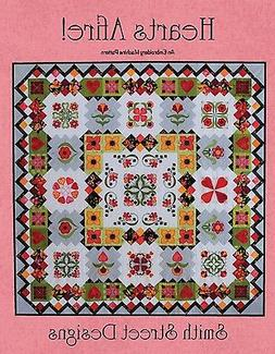 HEARTS AFIRE EMBROIDERY MACHINE PATTERN, With CD By Smith St
