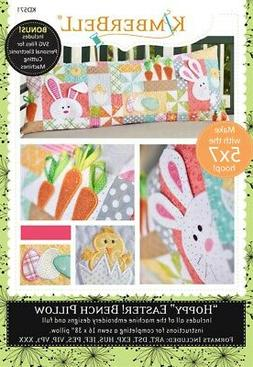 """Hoppy"" Easter! Bench Pillow Machine Embroidery CD, From Kim"
