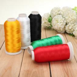 HOT 5000m Cones Polyester Bobbin Thread Filament Colors for