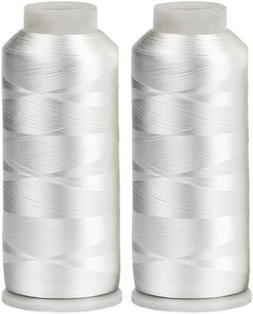 Huge 5500yards Cone Spool Bobbin Thread White Machine Embroi