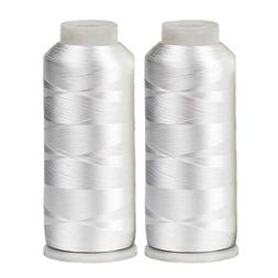 HUGE 5500yards Cone Spool Bobbin Thread White Machine Embroi