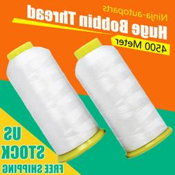 Huge Bobbin Thread for Sewing and Embroidery Machine 2 White