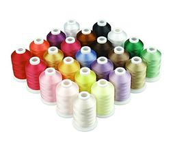 1000 Meters Huge Spool Polyester Embroidery Machine Thread D