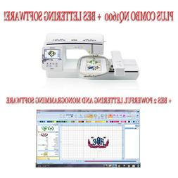 Brother Innovis NQ1600E Embroidery Machine Plus BES 2 Letter