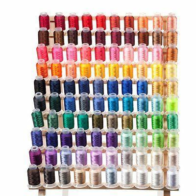 set of 100 spools embroidery machine thread