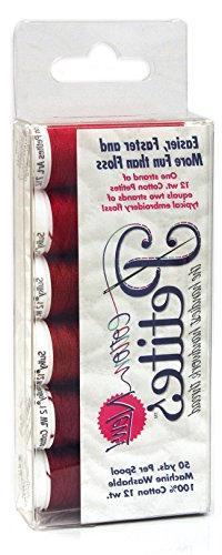 Sulky Sampler 12 Wt. Cotton Petites-Six Pack-Redwork Assortm