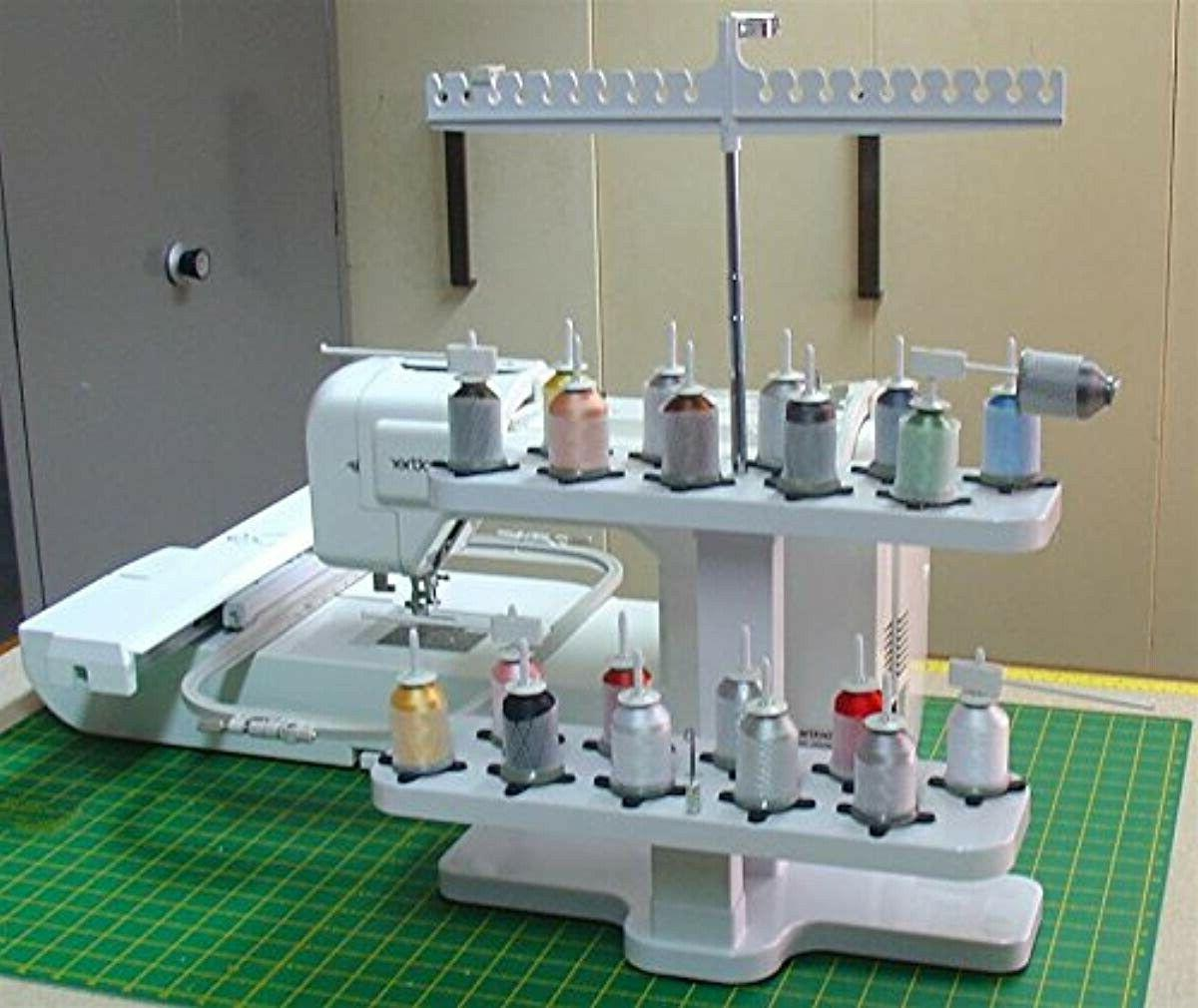 Embroidex - 20 Spool Thread Stand for All Home Embroidery Ma