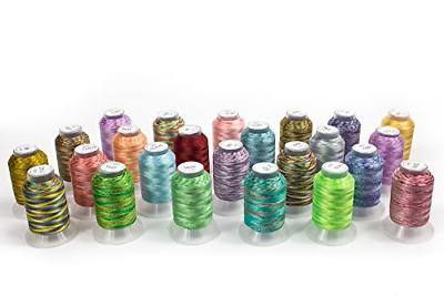 24 spools variegated embroidery machine